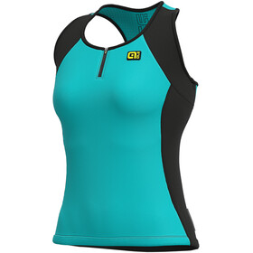 Alé Cycling Solid Color Block Tanktop Dames, turquoise
